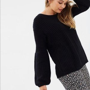 Amuse Society Braxton knit blouson sleeve sweater